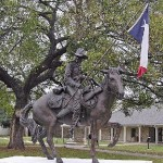 Texas Ranger Statue in front of the Texas Ranger Museum
